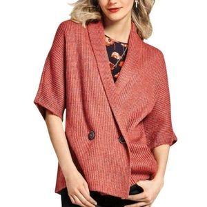 CAbi 3162 Rosewood Dolman Knit Cardigan Sweater S